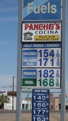 Arizona gasoline cost - Californians Vanishing Disposable Income