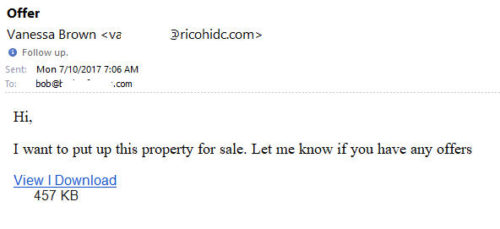 Real Estate Agent Ransomware