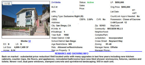 San Diego income property
